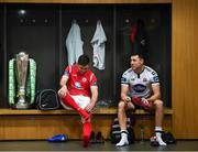 12 February 2019; Ronan Murray of Sligo Rovers and Brian Gartland of Dundalk, right, during the launch of the 2019 SSE Airtricity League season at the Aviva Stadium, Lansdowne Road in Dublin. Photo by Stephen McCarthy/Sportsfile