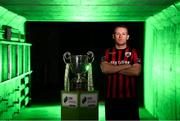 12 February 2019; Dean Zambra of Longford Town during the launch of the 2019 SSE Airtricity League season at the Aviva Stadium, Lansdowne Road in Dublin. Photo by Stephen McCarthy/Sportsfile
