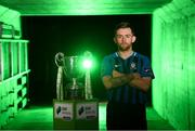 12 February 2019; Aaron Brilly of Athlone Town during the launch of the 2019 SSE Airtricity League season at the Aviva Stadium, Lansdowne Road in Dublin. Photo by Stephen McCarthy/Sportsfile