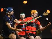 12 February 2019; Mark Kehoe of UCC in action against Eoghan O'Donnell of DCU Dóchas Éireann during the Electric Ireland Fitzgibbon Cup Semi-Final match between University College Cork and DCU Dóchas Éireann at the WIT Sports Campus in Carriganore, Waterford. Photo by Harry Murphy/Sportsfile