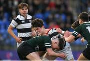 13 February 2019; Alekseiy Soroka of Belvedere College is tackled by Thomas Sheedy of Newbridge College during the Bank of Ireland Leinster Schools Senior Cup Round 2 match between Belvedere College and Newbridge College at Energia Park in Donnybrook, Dublin.  Photo by Eóin Noonan/Sportsfile