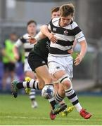13 February 2019; John Meagher of Belvedere College is tackled by John Shanahan of Newbridge College during the Bank of Ireland Leinster Schools Senior Cup Round 2 match between Belvedere College and Newbridge College at Energia Park in Donnybrook, Dublin.  Photo by Eóin Noonan/Sportsfile