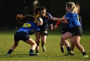 13 February 2019; Daimhlinn Darling of UL in action against Soha Smith of DCU, left, during the Kay Bowen Women's Senior Cup match between DCU and UL at MU Barnhall RFC in Leixlip, Kildare. Photo by Piaras Ó Mídheach/Sportsfile