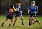 13 February 2019; Louise McCleary of DCU in action against Sinéad O'Reilly of UL during the Kay Bowen Women's Senior Cup match between DCU and UL at MU Barnhall RFC in Leixlip, Kildare. Photo by Piaras Ó Mídheach/Sportsfile