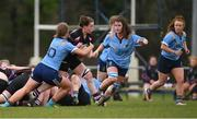 13 February 2019; Ella Synott of NUI Galway is tackled by Ali Coleman of UCD during the Kay Bowen Women's Senior Cup match between UCD and NUI Galway at MU Barnhall RFC in Leixlip, Kildare. Photo by Piaras Ó Mídheach/Sportsfile