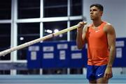 13 February 2019; Olympic Gold Medallist Thiago Braz competing in the Hodson Bay Group Men's Pole Vault during the AIT International Grand Prix 2019 at the Athlone Institute of Technology in Westmeath. Photo by Brendan Moran/Sportsfile