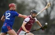 14 February 2019; Sean Loftus of NUI Galway in action against Colin O'Brien of Mary Immaculate College during the Electric Ireland Fitzgibbon Cup Semi-Final match between National University of Ireland Galway and Mary Immaculate College Limerick at Cusack Park in Ennis, Clare. Photo by Eóin Noonan/Sportsfile