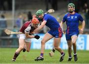 14 February 2019; Conor Whelan of NUI Galway is tackled by Darren Browne of Mary Immaculate College during the Electric Ireland Fitzgibbon Cup Semi-Final match between National University of Ireland Galway and Mary Immaculate College Limerick at Cusack Park in Ennis, Clare. Photo by Eóin Noonan/Sportsfile