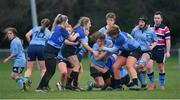 13 February 2019; Action from the Kay Bowen Women's Senior Cup Final match between UCD and DCU at MU Barnhall RFC in Leixlip, Kildare. Photo by Piaras Ó Mídheach/Sportsfile