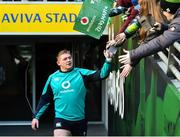 15 February 2019; Tadhg Furlong meets supporters prior to an Ireland rugby open training session at the Aviva Stadium in Dublin. Photo by Seb Daly/Sportsfile