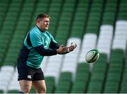 15 February 2019; Tadhg Furlong during an Ireland rugby open training session at the Aviva Stadium in Dublin. Photo by Seb Daly/Sportsfile
