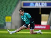 15 February 2019; Joey Carbery during an Ireland rugby open training session at the Aviva Stadium in Dublin. Photo by Seb Daly/Sportsfile
