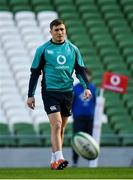 15 February 2019; Jordan Larmour during an Ireland rugby open training session at the Aviva Stadium in Dublin. Photo by Seb Daly/Sportsfile