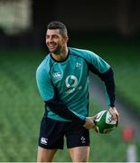 15 February 2019; Rob Kearney during an Ireland rugby open training session at the Aviva Stadium in Dublin. Photo by Seb Daly/Sportsfile