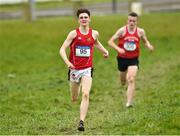 15 February 2019; Tommy Connolly, from CBC Cork City, on his way to winning the Senior Boys 6000m from second place Frank O'Brien from Midleton CBS during the Irish Life Health Munster Schools Cross Country event at WIT Sports Campus in Carrignore, Waterford. Photo by Matt Browne/Sportsfile