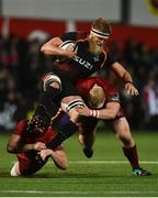15 February 2019; John-Charles Astle of Southern Kings is tackled by Dan Goggin and John Ryan of Munster during the Guinness PRO14 Round 15 match between Munster and Southern Kings at Irish Independent Park in Cork. Photo by Diarmuid Greene/Sportsfile