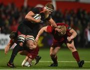 15 February 2019; John-Charles Astle of Southern Kings is tackled by Dan Goggin, left, and John Ryan of Munster during the Guinness PRO14 Round 15 match between Munster and Southern Kings at Irish Independent Park in Cork. Photo by Diarmuid Greene/Sportsfile