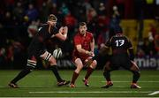15 February 2019; Darren Sweetnam of Munster kicks upfield past John-Charles Astle, left, and Meli Rokoua of Southern Kings during the Guinness PRO14 Round 15 match between Munster and Southern Kings at Irish Independent Park in Cork. Photo by Diarmuid Greene/Sportsfile