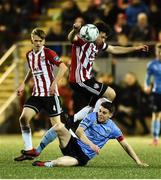 15 February 2019; Barry McNamee of Derry City in action against Gary O'Neill of UCD during the SSE Airtricity League Premier Division match between Derry City and UCD at the Ryan McBride Brandywell Stadium in Derry. Photo by Oliver McVeigh/Sportsfile