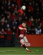 15 February 2019; Rory Scannell of Munster kicks a conversion during the Guinness PRO14 Round 15 match between Munster and Southern Kings at Irish Independent Park in Cork. Photo by Diarmuid Greene/Sportsfile