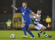 15 February 2019; Kenny Browne of Waterford in action against Jack Byrne of Shamrock Rovers during the SSE Airtricity League Premier Division match between Waterford and Shamrock Rovers at the RSC in Waterford. Photo by Matt Browne/Sportsfile