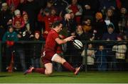 15 February 2019; Darren Sweetnam of Munster scores his side's third try during the Guinness PRO14 Round 15 match between Munster and Southern Kings at Irish Independent Park in Cork. Photo by Diarmuid Greene/Sportsfile