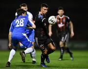 15 February 2019; Danny Mandroiu of Bohemians in action against John Kavanagh of Finn Harps during the SSE Airtricity League Premier Division match between Bohemians and Finn Harps at Dalymount Park in Dublin. Photo by Tom Beary/Sportsfile