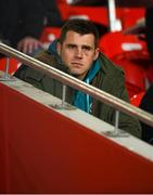 15 February 2019; CJ Stander of Munster in attendance at the Guinness PRO14 Round 15 match between Munster and Southern Kings at Irish Independent Park in Cork. Photo by Diarmuid Greene/Sportsfile