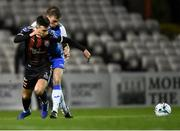 15 February 2019; Danny Mandroiu of Bohemians in action against Mark Coyle of Finn Harps during the SSE Airtricity League Premier Division match between Bohemians and Finn Harps at Dalymount Park in Dublin. Photo by Tom Beary/Sportsfile