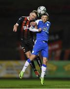 15 February 2019; Conor Levingston of Bohemians in action against Caolan McAleer of Finn Harps during the SSE Airtricity League Premier Division match between Bohemians and Finn Harps at Dalymount Park in Dublin. Photo by Tom Beary/Sportsfile