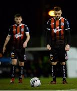 15 February 2019; Keith Ward of Bohemians during the SSE Airtricity League Premier Division match between Bohemians and Finn Harps at Dalymount Park in Dublin. Photo by Tom Beary/Sportsfile