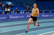 16 February 2019; Phil Healy of Bandon AC, Co. Cork, competing in the Women's 400m event during day 1 of the Irish Life Health National Senior Indoor Athletics Championships at the National Indoor Arena in Abbotstown, Dublin. Photo by Sam Barnes/Sportsfile