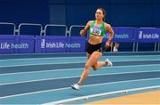 16 February 2019; Sophie Becker of St. Joseph's AC, Co. Kilkenny, competing in the Women's 400m event during day 1 of the Irish Life Health National Senior Indoor Athletics Championships at the National Indoor Arena in Abbotstown, Dublin. Photo by Sam Barnes/Sportsfile