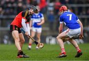 16 February 2019; Padraig Power of CBC Cork in action against Darragh Moran of Midleton CBS during the Harty Cup Final match between CBC Cork and Midleton CBS at Páirc Uí Rinn in Cork. Photo by Piaras Ó Mídheach/Sportsfile