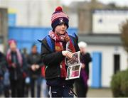 16 February 2019; Young Mullinalaghta St Columba's supporter Senan Dermody, age 7, from Mullinalaghta, Longford, makes his way to the ground prior to the AIB GAA Football All-Ireland Senior Club Championship Semi-Final match between Mullinalaghta St Columba's and Dr Crokes at Semple Stadium in Thurles, Tipperary. Photo by Seb Daly/Sportsfile