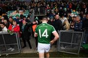 16 February 2019; Caoimhín Ó Casaide of Gaoth Dobhair  leaves the pitch following the AIB GAA Football All-Ireland Senior Championship Semi-Final match between Corofin, Galway, and Gaoth Dobhair, Donegal, at Avantcard Páirc Sean Mac Diarmada in Carrick-on-Shannon, Leitrim. Photo by Stephen McCarthy/Sportsfile