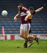 16 February 2019; Dónal McElligott of Mullinalaghta St Columba's is fouled by Brian Looney of Dr Crokes, resulting in a penalty, during the AIB GAA Football All-Ireland Senior Club Championship Semi-Final match between Mullinalaghta St Columba's and Dr Crokes at Semple Stadium in Thurles, Tipperary. Photo by Seb Daly/Sportsfile