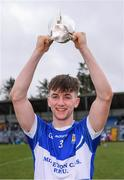 16 February 2019; Midleton CBS captain Dylan Hogan lifts the cup after the Harty Cup Final match between CBC Cork and Midleton CBS at Páirc Uí Rinn in Cork. Photo by Piaras Ó Mídheach/Sportsfile