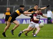 16 February 2019; Gary Rogers of Mullinalaghta St Columba's in action against David O'Leary, left, and Brian Looney of Dr Crokes during the AIB GAA Football All-Ireland Senior Club Championship Semi-Final match between Mullinalaghta St Columba's and Dr Crokes at Semple Stadium in Thurles, Tipperary. Photo by Seb Daly/Sportsfile