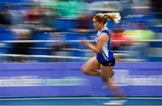 16 February 2019; Catherine McManus of Dublin City Harriers AC, Co. Dublin, competing in the Women's 200m event during day 1 of the Irish Life Health National Senior Indoor Athletics Championships at the National Indoor Arena in Abbotstown, Dublin. Photo by Sam Barnes/Sportsfile