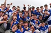 16 February 2019; Midleton CBS players celebrate with the cup after the Harty Cup Final match between CBC Cork and Midleton CBS at Páirc Uí Rinn in Cork. Photo by Piaras Ó Mídheach/Sportsfile