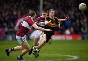 16 February 2019; Gavin O'Shea of Dr Crokes in action against Patrick Fox, left, and Michael Cunningham of Mullinalaghta St Columba's during the AIB GAA Football All-Ireland Senior Club Championship Semi-Final match between Mullinalaghta St Columba's and Dr Crokes at Semple Stadium in Thurles, Tipperary. Photo by Seb Daly/Sportsfile