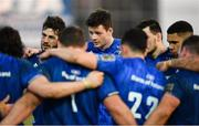 16 February 2019; Caelan Doris, left, and Jack Dunne of Leinster following the Guinness PRO14 Round 15 match between Zebre and Leinster at the Luigi Zaffanella Stadium in Viadana, Italy. Photo by Ramsey Cardy/Sportsfile