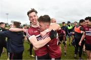 16 February 2019; Caolan Dillon, left, and Liam Rafferty of St Mary's University celebrate after the Electric Ireland HE GAA Sigerson Cup Semi-Final match between St Mary's University and University College Dublin at Mallow GAA in Mallow, Cork. Photo by Matt Browne/Sportsfile