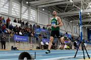 16 February 2019; Thomas Barr of Ferrybank AC, Co. Waterford, competing in the Men's 400m event during day 1 of the Irish Life Health National Senior Indoor Athletics Championships at the National Indoor Arena in Abbotstown, Dublin. Photo by Sam Barnes/Sportsfile