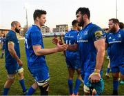 16 February 2019; Jack Dunne, left, and Mick Kearney of Leinster following the Guinness PRO14 Round 15 match between Zebre and Leinster at the Luigi Zaffanella Stadium in Viadana, Italy. Photo by Ramsey Cardy/Sportsfile