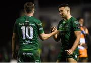16 February 2019; Cian Kelleher, right, and Jack Carty of Connacht following the Guinness PRO14 Round 15 match between Connacht and Toyota Cheetahs at The Sportsground in Galway. Photo by Harry Murphy/Sportsfile