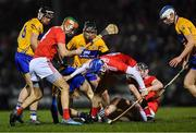 16 February 2019; Cormac Murphy of Cork gathers possession as players from both sides look on during the Allianz Hurling League Division 1A Round 3 match between Cork and Clare at Páirc Uí Rinn in Cork. Photo by Piaras Ó Mídheach/Sportsfile