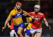 16 February 2019; Peter Duggan of Clare in action against David Griffin of Cork during the Allianz Hurling League Division 1A Round 3 match between Cork and Clare at Páirc Uí Rinn in Cork. Photo by Piaras Ó Mídheach/Sportsfile