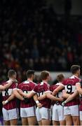 16 February 2019; Mullinalaghta St Columba's players during the national anthem prior to the AIB GAA Football All-Ireland Senior Club Championship Semi-Final match between Mullinalaghta St Columba's and Dr Crokes at Semple Stadium in Thurles, Tipperary. Photo by Seb Daly/Sportsfile